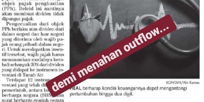 Pembebasan Pajak Dividen Menahan Outflow Pasar Saham