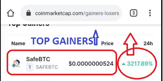 safeBTC top gainers