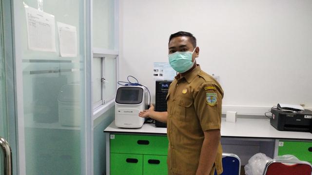 Alat tes PCR yang ada di Labkesda Kota Jambi. (Foto: M Sobar Alfahri/Jambikita.id)