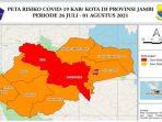 Jambi Zona Merah Covid-19, Warga Diminta Waspada